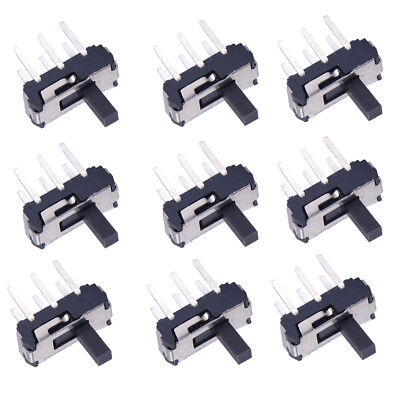 10 pcs 1P2T 6 Pin Toggle Vertical DIP Slide Switch MSS-22D18 for PCB Mount