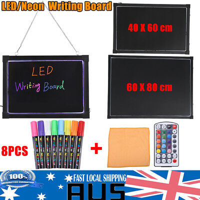 Erasable LED Light Drawing Message Advertizing Sign Writing Board & Highlighter