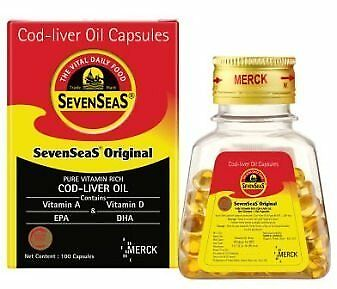 Seven Seas Pure Cod Liver Oil Capsules 100 Cap Supports a Healthy Heart,supports
