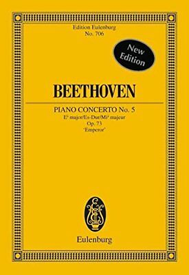 Piano Concerto 5 Op.73 Efl Maj (Edition Eulenburg) Book The Cheap Fast Free Post