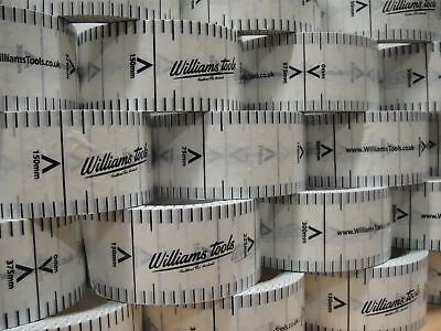 1 Roll of Williams Tools 48mm x 60m Building Profiles Gauge Brick Tape Blakes PT