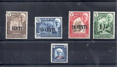 ADEN 1951 SG 20 to 23 + 25 m/m