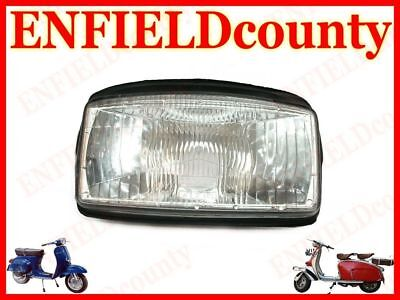 Brand New Vespa Headlight Lamp Unit Assembly With Rubber Beading T5 @au