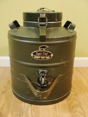 Vintage Military Green Super Chef Model MIL 3 Gal Insulated Food/Beverage 1085