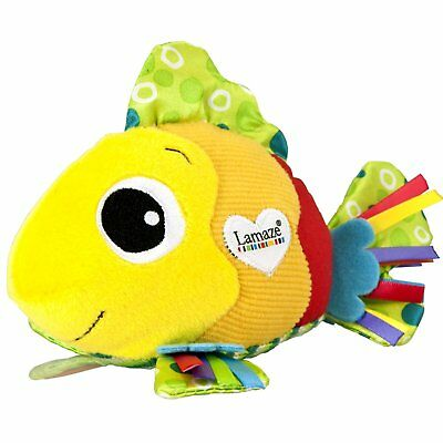 Baby Kid Child Lamaze Feel Me Fish Crinkle Squeaky Texture Soft Stroller Toy Pal