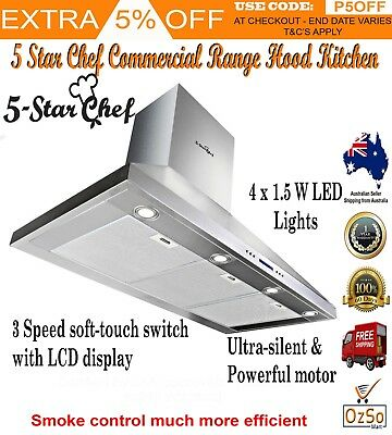 5 Star Chef New Stove Range Hood 120cm smoke vent Rangehood Kitchen Stainless