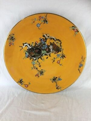 Vintage Burlsley Ware Oriental Design Charger Wall Hanging Plate (ref G885)