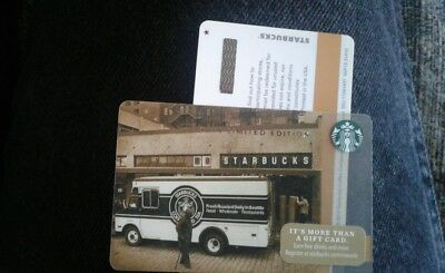 Starbucks 2014 Limited Edition Bus Asterisk * Printers Mark Gift Card Mint