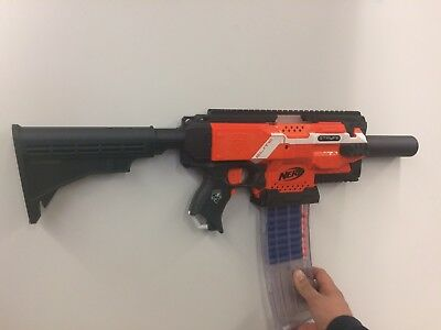 3D Printed Carbon Fiber Worker Mod Shoulder Stock for Nerf Stryfe (no gun)