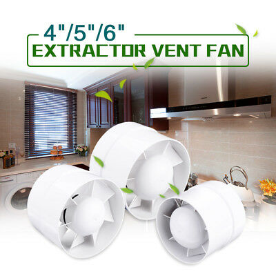 """4"""" 5"""" 6"""" Inch Booster Fan Exhaust Blower Extractor for Ducting Vent Cooling Bath"""