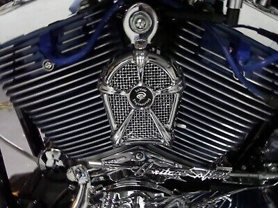 LeNale Engineering Chrome Engine Cooling Fan 05-18 Harley FXD Dyna