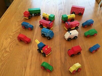 EARLY LEARNING CENTRE Vintage Wooden Automobile Toys Set Old School ...