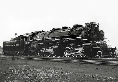 C&O Chesapeake & Ohio Steam Locomotive 1309 Railroad train photo Mallet 2-6-6-2