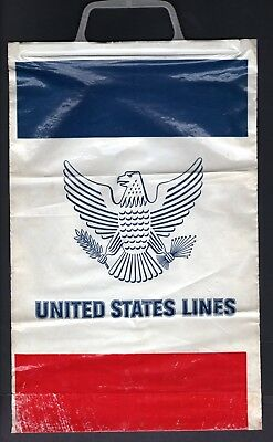 SS UNITED STATES Colorful Gift Shop Bag from Ship - NAUTIQUES sHiPs WORLDWIDE