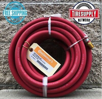 """Continental Air Hose (3/8"""" x 50') 1/4"""" MNPT 300 psi Red Rubber"""