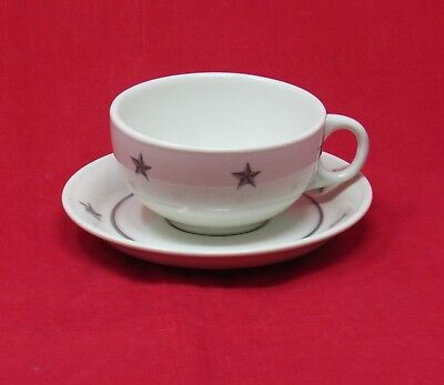 Gray Star Cup & Saucer from S.S. UNITED STATES - NAUTIQUES sHiPs WORLDWIDE