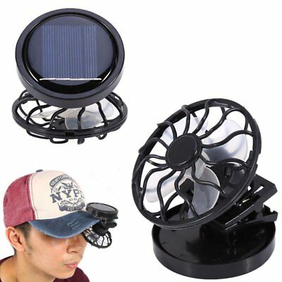 Portable Mini Clip-on Solar Powered Panel Cooling Fan Cooler for Travel Fishing