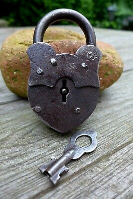 Antique Padlock With One Working Key Unique Made in Russia Collector Rare 27-18
