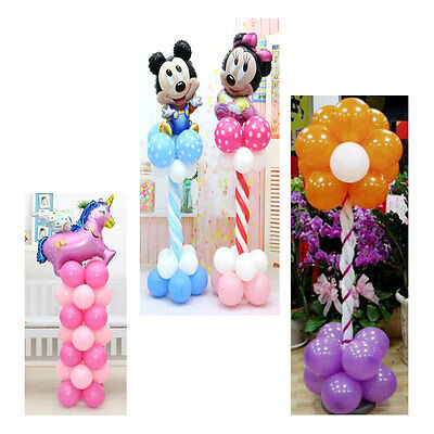 2sets Balloon Frame Column Stand Builder Kits for Birthday Wedding Decorations