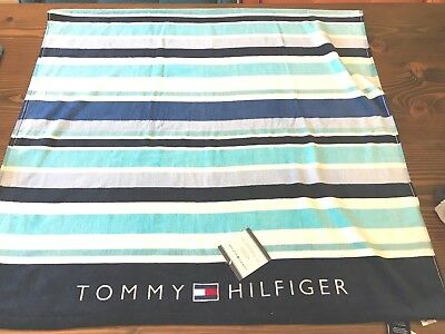 """TOMMY HILFIGER MULTI COLOR STRIPES NEW WITH TAGS BEACH TOWEL 35""""x66"""""""