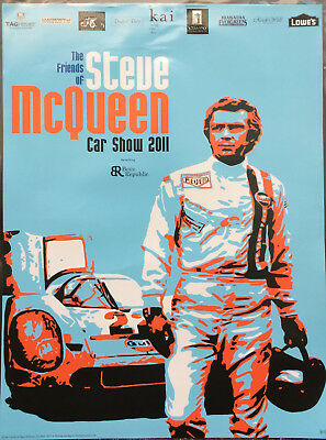 Friends of Steve McQueen 2011 Car Show Event Poster Hunziker Gulf Porsche 917