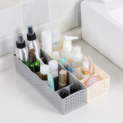 5-Cell- Plastic Solid Organizer Storage Box Tie Socks Drawer Cosmetic Divider SF