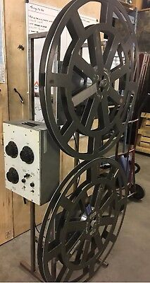 35mm  Westrex film Projector Tower Portable  With Spools Takes Full Feature !!