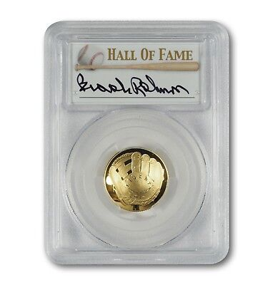 2014-W $5 Gold Baseball Coin - PCGS PR70 - Hand-Signed By Brooks Robinson