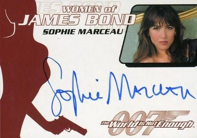James Bond The Quotable James Bond Sophie Marceau Autograph Card WA16