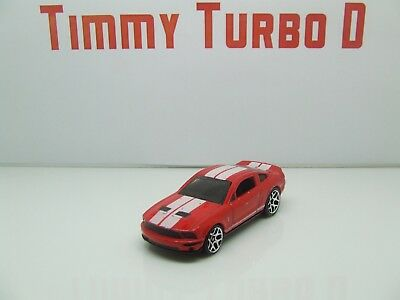 Hot Wheels Ford Mustang Shelby Gt 500 2007 In Red 75 Mm Long 1:64 D