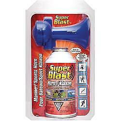 Canned Compressed Air Horn 8 oz Emergencies Auto Boat Sporting Events Ozone Safe