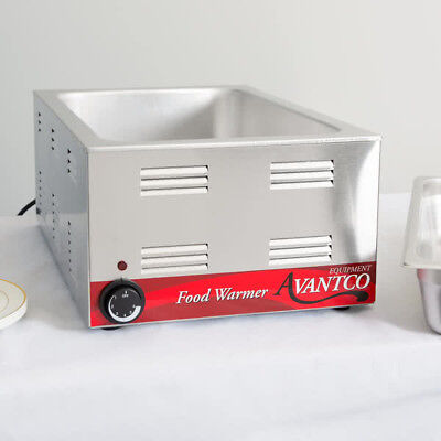 "12"" x 20"" Full Size Electric Countertop Buffet Kitchen Food Warmer - 120V, 1200W"