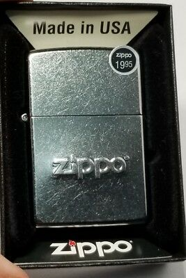 Zippo Windproof Lighter With Zippo Logo Stamped, # 21193, scratched Look NEW