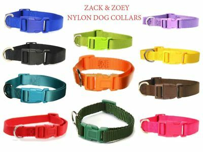 Zack and Zoey Nylon Quick-Release Buckles Dog Collar Different Sizes and Colors