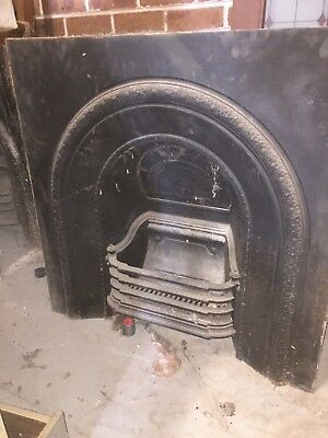 Cast Iron Fireplace Fascia with complete firebox and grate