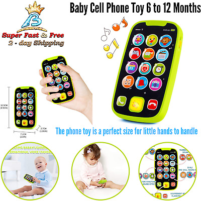 Kids Cell Phone Mobile Music Pretend Play Toys Yphone USB Recharable Cable White
