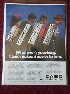 1984 Print Ad CASIO Electronic Keyboards ~ Punk, Funk, Rock or Country Music