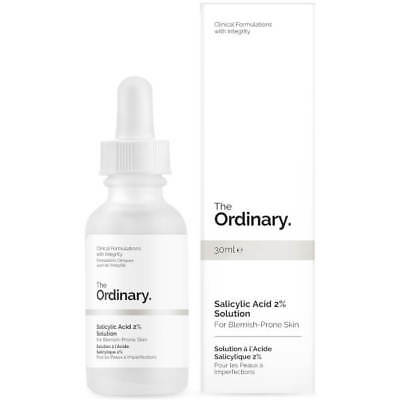The Ordinary Salicylic Acid 2% Solution Exfoliate Unclog Anti-inflammatory