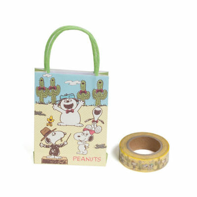 Sanrio Snoopy Fun Design Serie Mini Paper Bag 1.5Cm*15M Paper Sticky Tape 628301