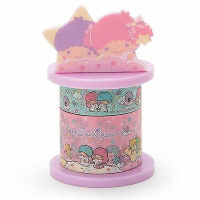 Sanrio Little Twin Stars Paper Washi Tape & Dispenser Horder 495492