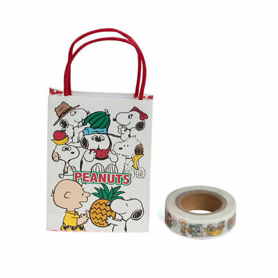 Sanrio Snoopy Fun Design Serie Mini Paper Bag 1.5Cm*15M Paper Sticky Tape 628280