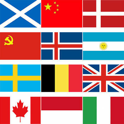 Different Country Flag 3 x 5 ft 90*150cm Polyester Flag with 2 Brass Grommets