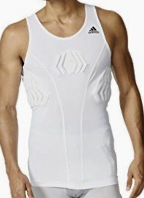 9f3438a849cb3 ADIDAS Techfit White Compression Padded Basketball Tank Top NEW Mens Sz M