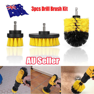 Grout Power Scrubber Cleaning Drill Brush Tub Cleaner Combo Tool Kit Yellow AU