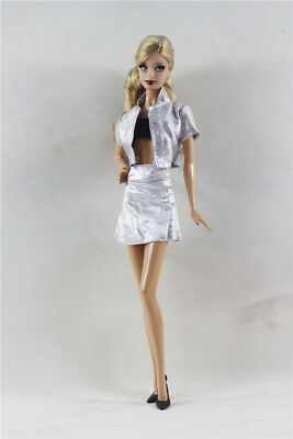 3in1 Fashion Top+Vest+ skirt dress  Outfit  FOR Barbie Doll Clothes Outfit