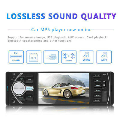 "4.1"" HD Bluetooth Touch Car Stereo Radio MP5/MP3 Player USB/AUX/FM+Camera"