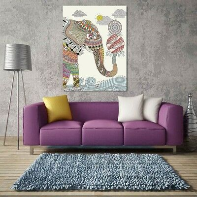 Art Modern Abstract Elephant Painting Canvas Picture Print Wall Hanging Decor MM