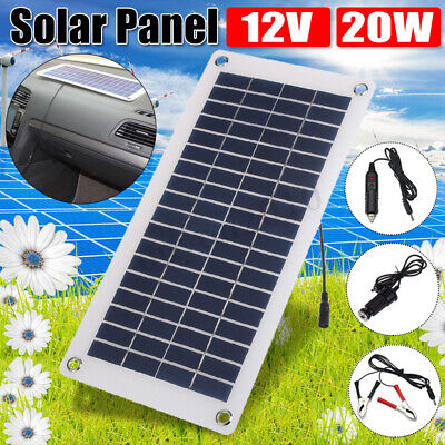 15W 12V/5V Semi Flexible Solar Panel Charger For Car Battery Phone RV Outdoor