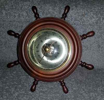 Antique Collectible Barometer Shaped Ships Wheel HUGER made in Germany