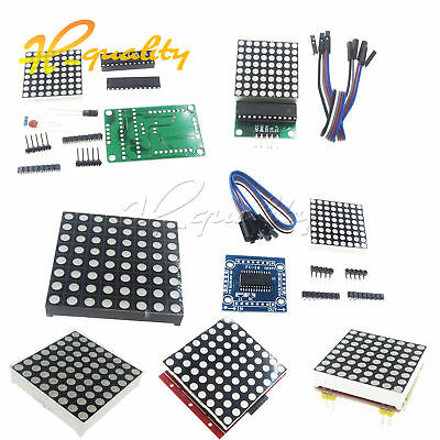 8x8 3mm / 5mm Dot Matrix Display Module Red/Full RGB LED MAX7219 DIY Kit